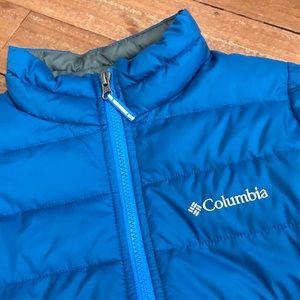 Columbia Boys Full Zip Blue Puffer Jacket